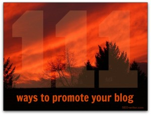 111 ways to promote your blog