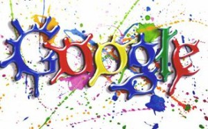 The unofficial first Google Doodle ever