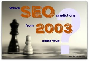 SEO predictions from 2003