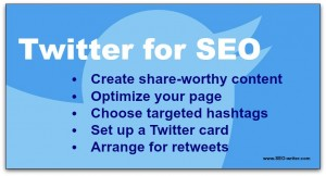 Twitter tips for SEO