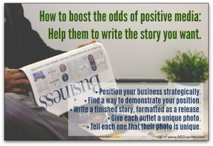 Media tips for positive coverage
