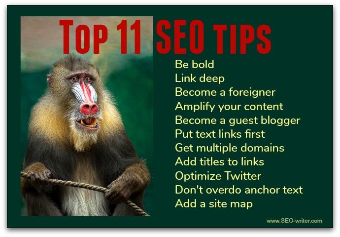 Top 11 SEO tips